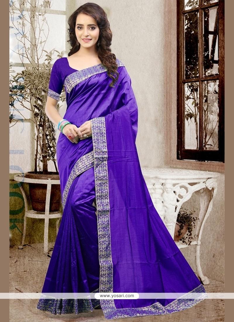 Affectionate Patch Border Work Traditional Designer Saree