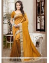 Staggering Mustard Traditional Saree