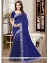 Imposing Art Silk Patch Border Work Designer Traditional Saree