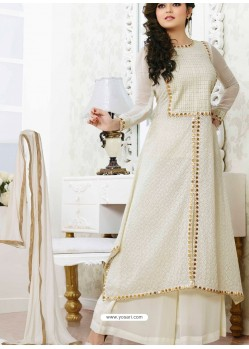 Off White Georgette Pakistani Suits