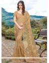 Pleasing Embroidered Work Designer Half N Half Saree