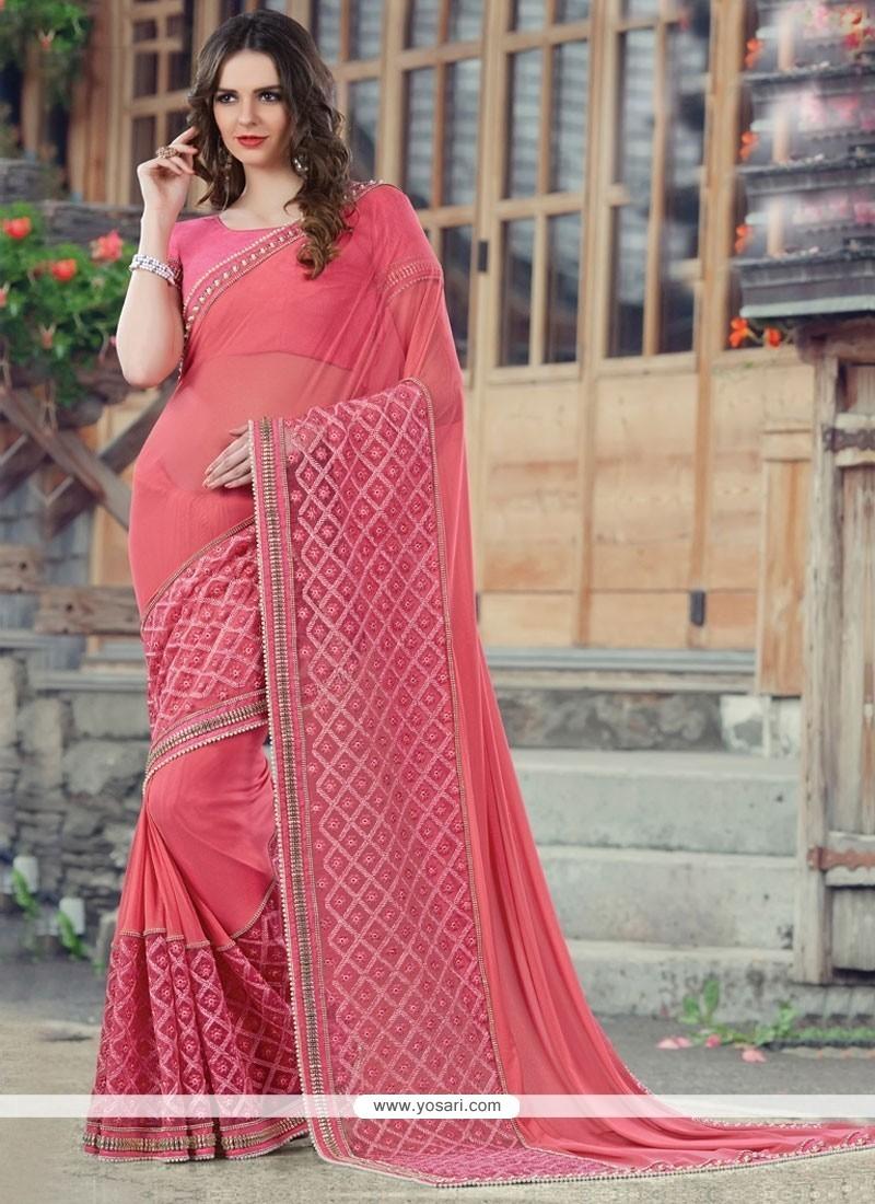 Mesmerizing Embroidered Work Designer Saree