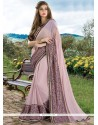 Incredible Faux Georgette Patch Border Work Classic Designer Saree