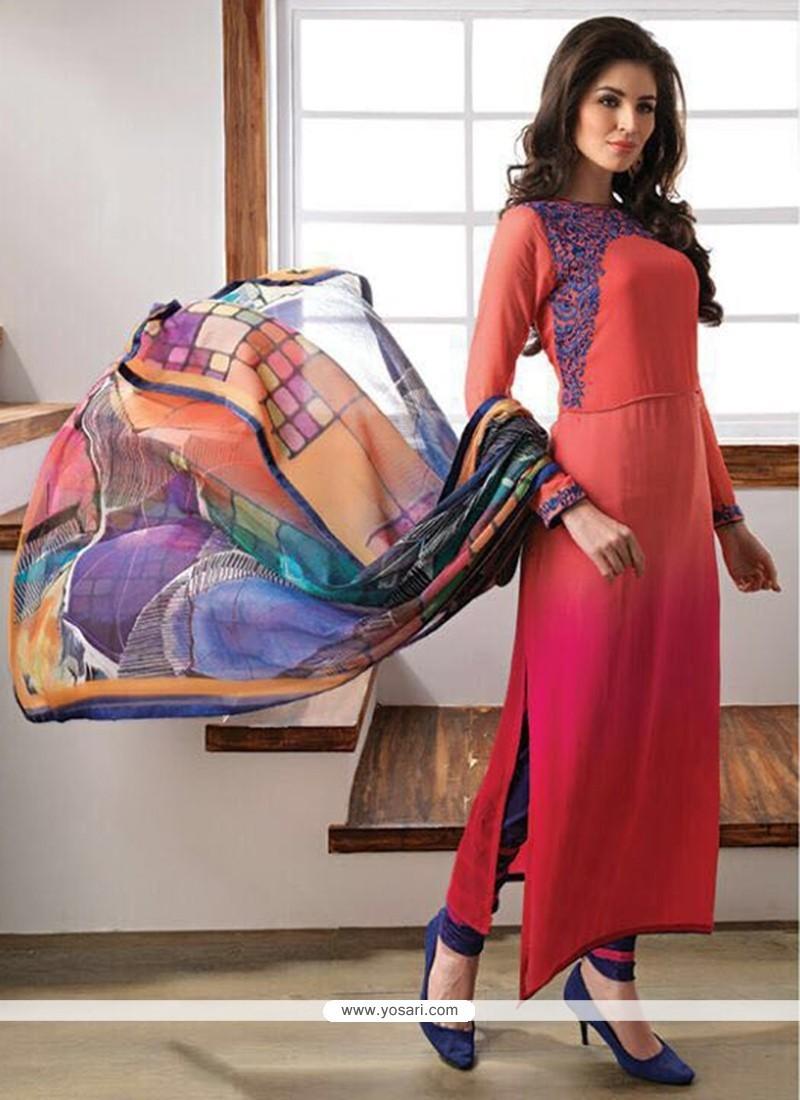 Latest Multi Colour Churidar Designer Suit