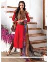 Adorable Embroidered Work Churidar Designer Suit