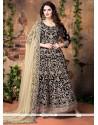 Jazzy Patch Border Work Banglori Silk Designer Floor Length Suit