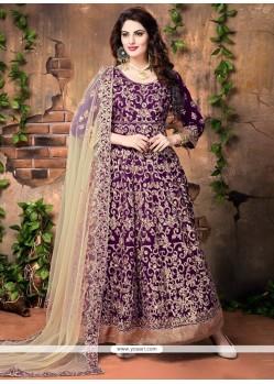 Exceeding Purple Designer Floor Length Suit