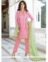 Haute Pink Art Silk Pant Style Suit