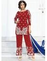 Royal Art Silk Maroon Designer Palazzo Salwar Kameez