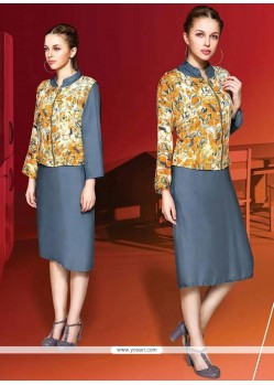 Beauteous Digital Print Work Party Wear Kurti