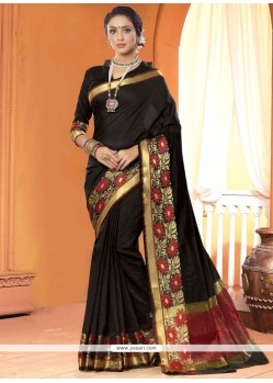 Specialised Black Lace Work Saree