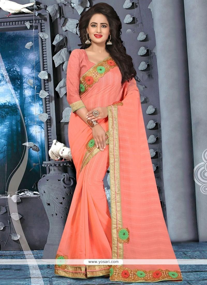 Imposing Peach Classic Saree
