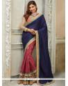 Hypnotic Blue And Pink Designer Traditional Saree
