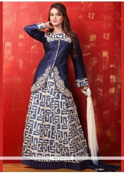 Surpassing Dupion Silk Print Work Lehenga Choli