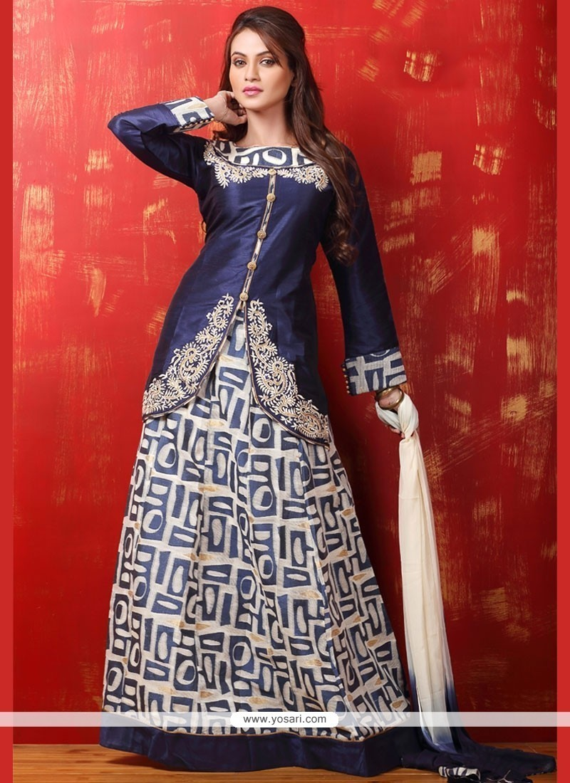 73fd76cb3a Buy Surpassing Dupion Silk Print Work Lehenga Choli | Designer ...
