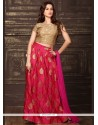 Sophisticated Art Silk Hot Pink Lehenga Choli