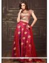 Genius Brocade Weaving Work Lehenga Choli