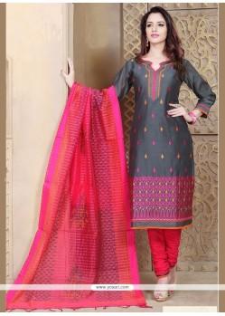 Staring Resham Work Chanderi Churidar Designer Suit