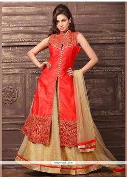 Sensible Dupion Silk Sequins Work Lehenga Choli