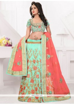 Superlative Art Silk Resham Work Lehenga Choli