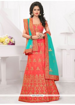 Exciting Art Silk Rose Pink Lehenga Choli