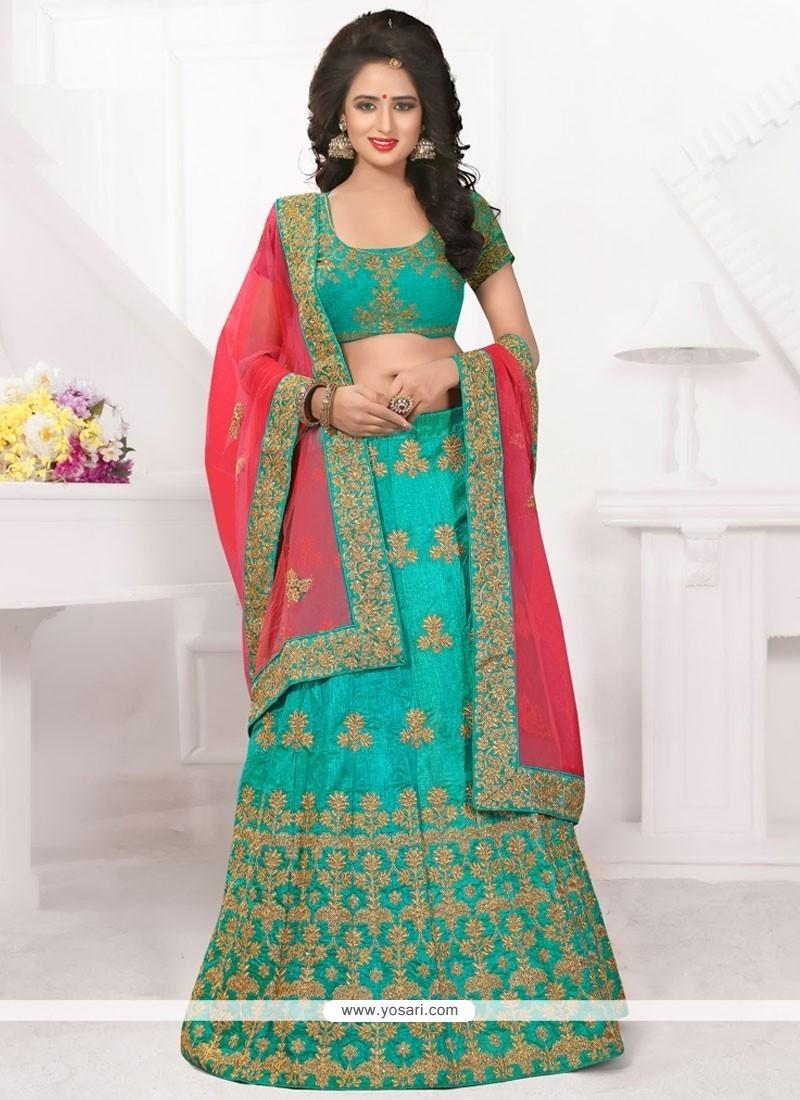 04644384a9 Buy Transcendent Embroidered Work Sea Green Lehenga Choli | Bridal ...