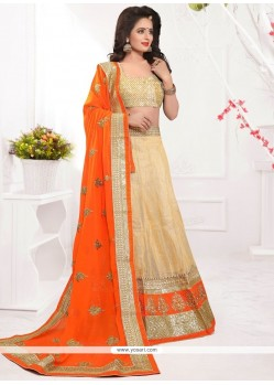 Genius Net Patch Border Work Lehenga Choli