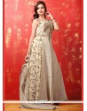 Lively Dupion Silk Zari Work Readymade Anarkali Salwar Suit