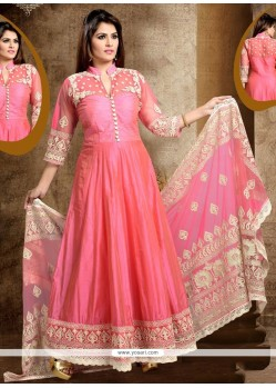 Blooming Pink Readymade Anarkali Salwar Suit