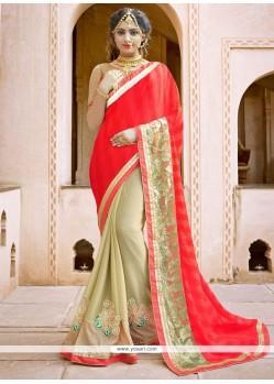 Fabulous Fancy Fabric Designer Half N Half Saree