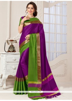 Sterling Art Silk Purple Designer Traditional Saree