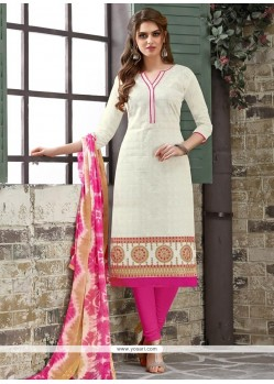 Adorning White Churidar Suit