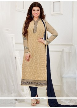 Sensational Resham Work Churidar Designer Suit