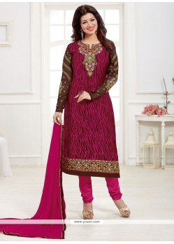 Vivid Lace Work Churidar Designer Suit
