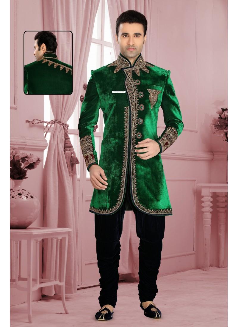 Dazzling Diva Green Men`S Wear