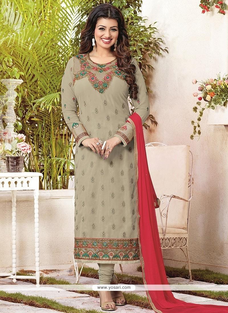 Ayesha Takia Lace Work Churidar Designer Suit
