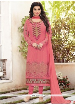Ayesha Takia Faux Georgette Lace Work Churidar Designer Suit