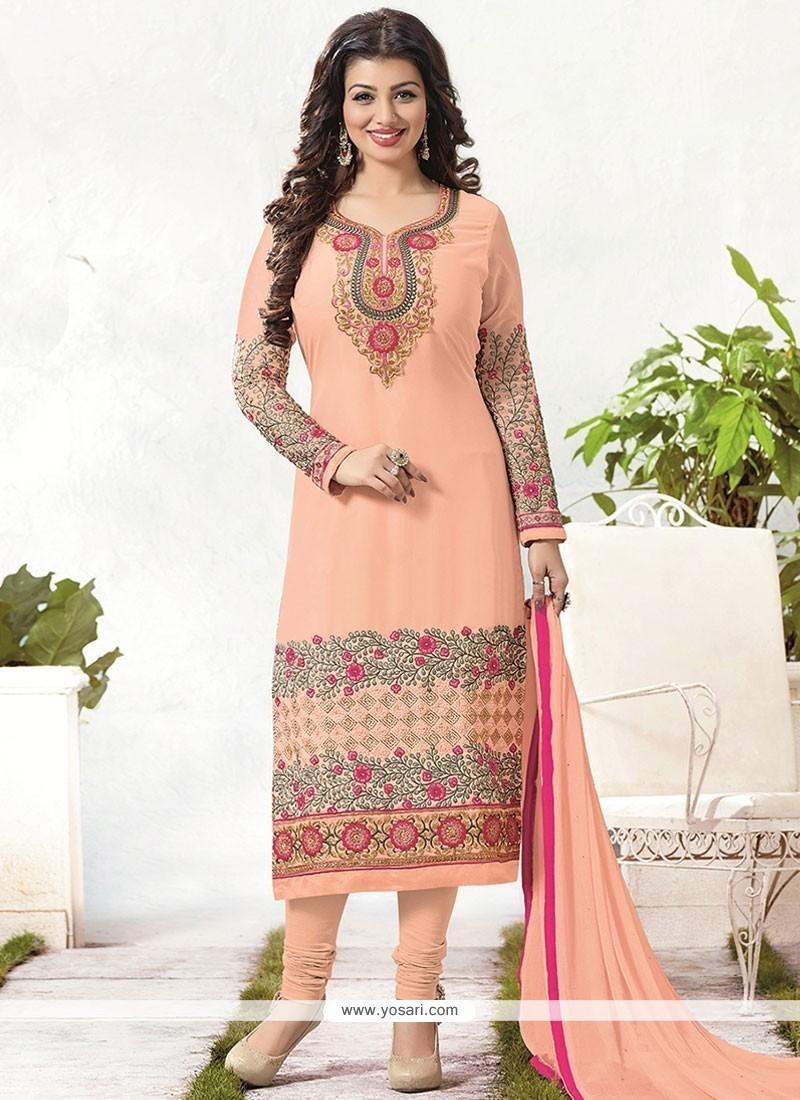 Ayesha Takia Peach Churidar Designer Suit