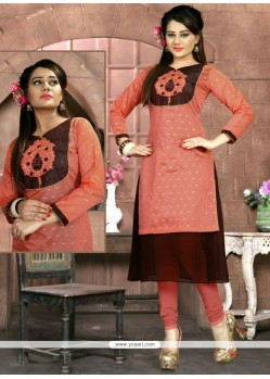 Swanky Embroidered Work Party Wear Kurti