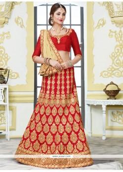 Impressive Bhagalpuri Silk Embroidered Work Lehenga Choli