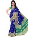 Engrossing Banarasi Silk Weaving Work Traditional Designer Saree