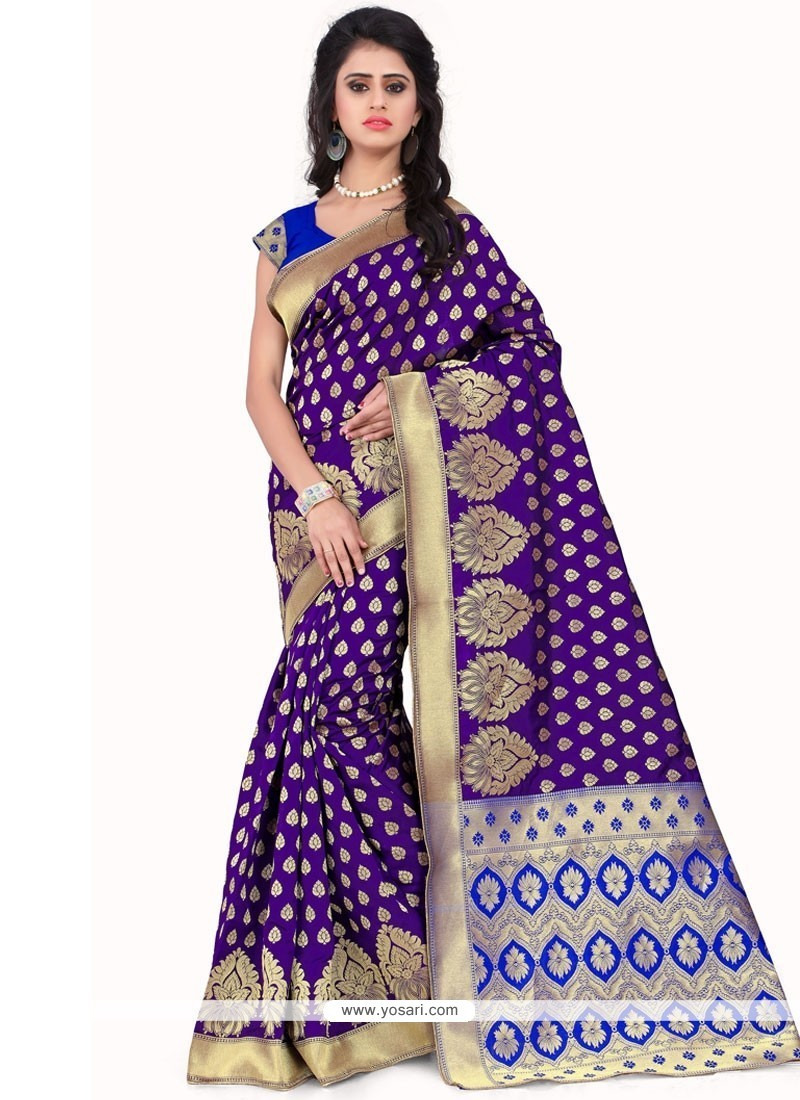Sensational Banarasi Silk Weaving Work Traditional Designer Saree