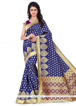 Voguish Banarasi Silk Weaving Work Traditional Designer Saree