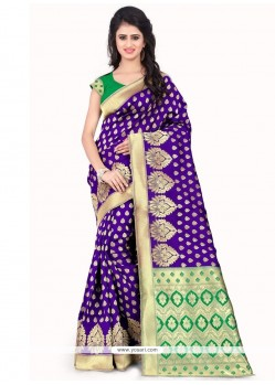 Engrossing Weaving Work Designer Traditional Saree
