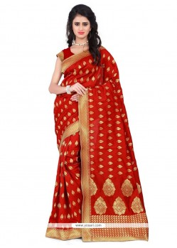 Cherubic Weaving Work Traditional Saree