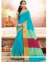 Marvelous Blue Designer Traditional Saree