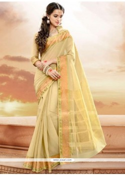Immaculate Patch Border Work Designer Traditional Saree