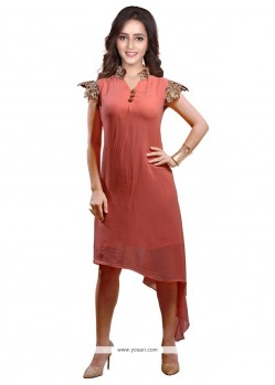 Modern Lace Work Faux Georgette Party Wear Kurti