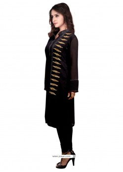 Astonishing Faux Georgette Embroidered Work Party Wear Kurti