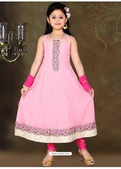 Splendorous Pink Embroidered Salwar Kameez